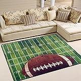 Use7 Retro American Football Area Teppich Teppich für Wohnzimmer Schlafzimmer, Textil, Mehrfarbig, 160cm x 122cm(5.3 x 4 feet)