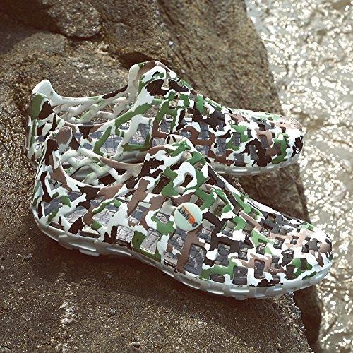 Marea Estate Sportivi Scarpe Verde Estive Lin Uomini Mens Spiaggia Nuova Esercito Buco Selvaggia Sandali Xing wRHqOxU