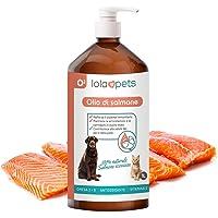 Olio di salmone per cani e gatti, 1 LITRO, 100% naturale, spremuto a freddo - Omega 3+6+9 e vitamina E   Salmone…