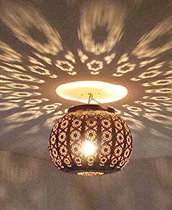 lustre plafonnier marocain en m tal cisel 40cm lampe. Black Bedroom Furniture Sets. Home Design Ideas