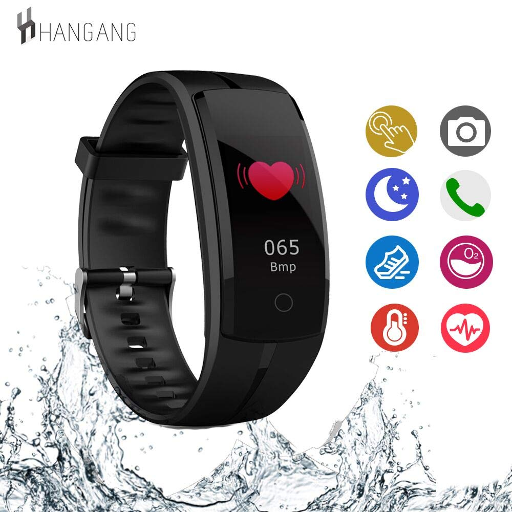 Hangang Fitness Tracker HR, Activity Tracker Watch with Heart Rate Monitor, Waterproof Smart Bracelet as Calorie Counter Pedometer Watch for Android and iOS