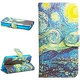 Dokpav® Samsung Galaxy Core 2 G355H Funda,Ultra Slim Delgado Flip PU Cuero Cover Case para Samsung Galaxy Core 2 G355H con Interiores Slip compartimentos para tarjetas-estrella