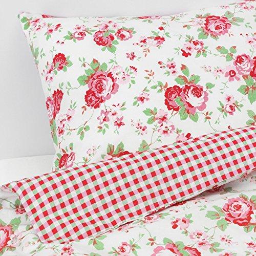 Rose Bettdecke (Valdern Rosali Doppelbett Bettwäsche Set Mit Blumenmuster Rose Muster 200x 200cm)