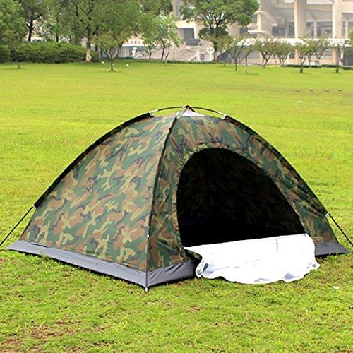 Mqhy tent il doppio di persone camouflage tende campeggio outdoor casual tende coppia tende da campeggio singolo piano tende con rete bianca porta filo verde 200cm * 150cm * 110cm