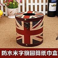 MEICHEN-Pelle Vintage impermeabile tessuto creative box fumatori in legno scatola di carta assorbente casa,Jack flag