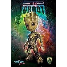 Poster Marvel Guardians of the Galaxy Vol. 2 - I Am Groot [Kid] (61cm x 91,5cm) + un poster Bora Bora en cadeau!