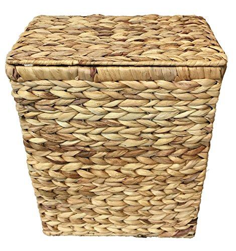 Kleiner Wäschekorb oder Wäschebehälter 28 Liter. Natürliche Hyazinthe. Deckelkorb - 2