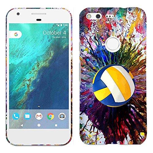 Google Pixel XL Fall-Vintage Farbe Volleyball Hartschale Kunststoff Back Cover. Slim Profil Cute Bedruckt Designer Schutzhülle Zum Aufstecken von Glisten