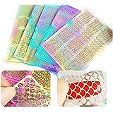 Primi diferentes stytles Nail Art Stickers–Nail Art uñas Stencil Hojas (5hojas)