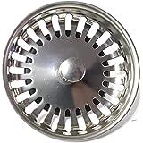 PROKIRA® universele zeefmandje zeefmand 3,5 inch (Ø80mm), voor spoelbakken met handbediening/roestvrij staal