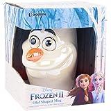 Disney Frozen II Tasse XL Olaf 3D Glanzeffekt weiß, irisierend, Keramik, Fassungsvermögen in Geschenkkarton., PP5129FZT, Mehr