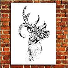Box Prints Animal wildlife Stag Art Wall art canvas print picture small large