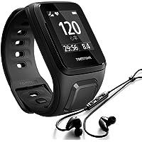 TomTom Spark Cardio + Musik GPS-Fitnessuhr inkl. Kopfhörer schwarz, Größe L