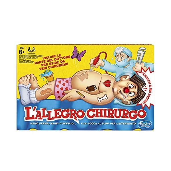 Hasbro Gaming B2176 L'Allegro Chirurgo, Gioco in Scatola, Età 6+ 1 spesavip