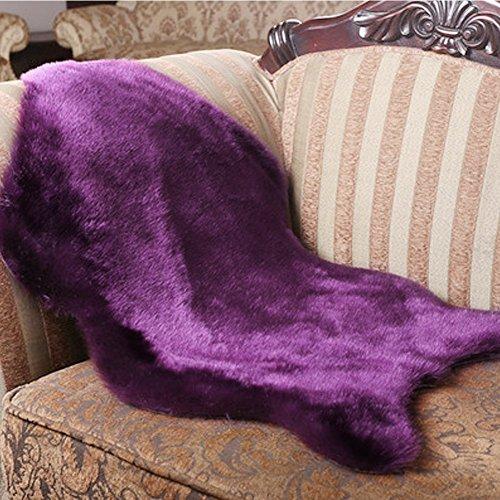 Faux Fur Teppich Lila Shag Fuzzy Flauschigen Schaffell Kids Teppich mit Super Fluffy Thick, als ein Bereich Teppich im Schlafzimmer, Wohnzimmer oder über Ihren Sessel oder Couch 60X90 CM (Lila) (Bereich Teppich-pad über Den Teppich)