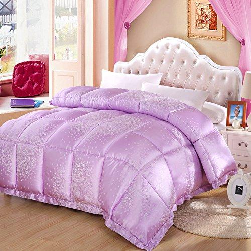 Polyester Betten/Bettwaren Wärme Voll/Queen/Voll/Twin Size Daunendecke Bettdecke einfügen, hypoallergen, genäht, Herbst und Winter atmungsaktiv Jacquard Decke, Plove Song, 180 × 210 mCm (3 Kg)