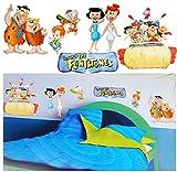 alles-meine.de GmbH 6 tlg. Set _ XL Wandtattoo / Sticker -  Flintstones / Familie Feuerstein  - ..