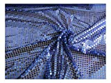 Fabrics-City ROYALBLAU/SCHWARZ HOCHWERTIG PAILETTEN STOFF PAILLETTENSTOFF 6MM STOFFE, 2432