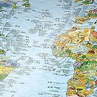 SURFTRIP MAP / Surf-Weltkarte - Ausf.: Wiederbeschreibbar , Englisch