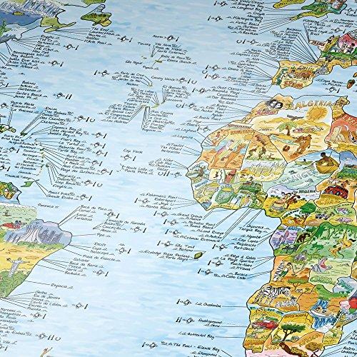 SURFTRIP MAP / Surf-Weltkarte - Ausf.: Wiederbeschreibbar , Englisch (Surf Gedruckt)