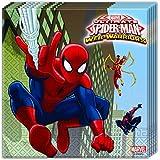 20 Servietten * ULTIMATE SPIDERMAN * für Geburtstag und Motto-Party // Set Napkins Partyservietten Kindergeburtstag Kinder Motto Web Warriors Superheld Spider Man
