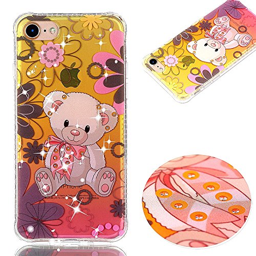 Ooboom® iPhone 6S/6 Hülle TPU Silikon Handy Tasche Funkeln Bling Diamant Stoßdämpfung Case Cover Bumper Drop Resistance für iPhone 6S/6 - Blumen Bär