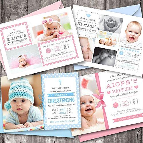 Invitaciones personalizadas para bautizo, bautizo, chico o niña. Elija entre ...