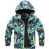 HAINES Jungen Jacke mit Gefütterte Kinder Wander Jacket Wasserdicht Softshelljacke Warm Regenjacke Übergangsjacke Outdoor Mantel
