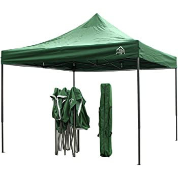 All Seasons Gazebos, Choice Of Colours, 3x3m Heavy Duty, Fully Waterproof, PVC Coated, Premium Pop Up Gazebo, Wheeled carry bag + 4 Leg Weight Bags…