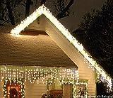 LED Eisregen-Lichterkette 480 warmweisse LEDs 12,0m Außen + Innen