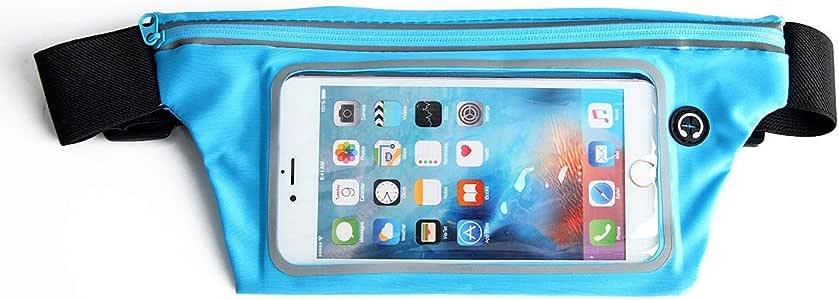 Revenlo Sac Compatible avec Samsung Galaxy Note 9 reflechissant avec fen/être Sac de Sport Sac Banane Ceinture de Sport Course dhydratation antisueur avec Fermeture Eclair Entree Casque