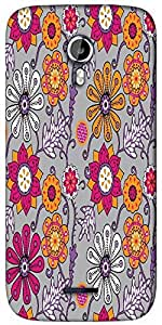 Snoogg seamless texture with flowers and butterflies endless floral pattern Designer Protective Back Case Cover For Micromax A117