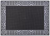CarFashion 257215 PUR DuraClean – Fussmatte   Türmatte   Fußabtreter   Schmutzfangmatte   Sauberlaufmatte   Eingangsmatte   für Innen und Aussen   Graphit-Metallic Oberfläche   Scraper-Noppen   Größe ca. 78 x 55 cm