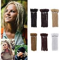 15cm- Dreadlock Extension Corti Leggere Rasta Dread Braiding Hair Treccine per Uomo Donna Capelli Finti per Treccia…