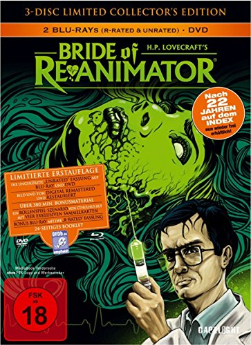 Bild von Bride Of Re-Animator (3-Disc Limited Collector's Edition) (Uncut) [2 Blu Rays + 1 DVD] [Blu-ray] [Limited Edition]