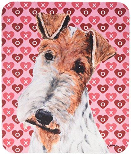 Wire Fox terrier cuori e Love tappetino per mouse, presina o sottopentola SC9700MP