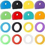 Uniclife 16 Pack Key Caps Covers Tags Set Plastic Key Identifier Codeerringen in 8 Verschillende Kleuren, 2 Stijlen
