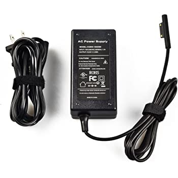 BOLWEO 31 Watts Charger Adaptor for Microsoft Surface Pro 3/Pro 4 Tablet (Black)