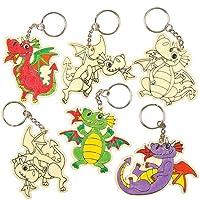 c59ae103740d Baker Ross Porte-Clés Dragon en Bois Que Les Enfants pourront colorier,  décorer et