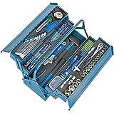 Heyco/Heytec 50807694500 Montagegereedschapskist, plaatstaal 5-voudig opklapbaar, inclusief 96-delig gereedschapssortiment, 5