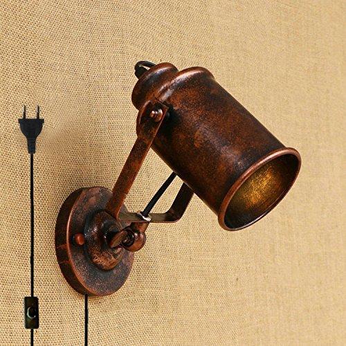 fsliving wand leuchter 1-light 1.8M plug - in - beleuchtung minimalistischen loft vintage - wand lampe glühbirne nicht enthalten (kupfer)