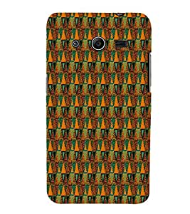 Glitter Triangle Pattern 3D Hard Polycarbonate Designer Back Case Cover for Samsung Galaxy Core 2 G355H