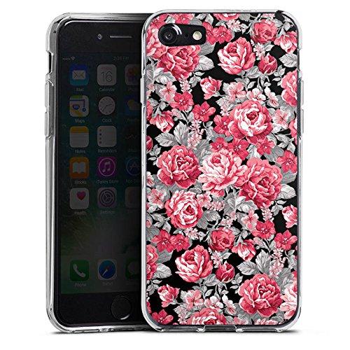 Apple iPhone X Silikon Hülle Case Schutzhülle Blumen Bunt blumenmuster Silikon Case transparent