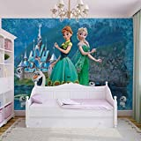 Disney Frozen Eiskönigin Anna Elsa Olaf - Forwall - Fototapete - Tapete - Fotomural - Mural Wandbild - (2959WM) - L - 152.5cm x 104cm - VLIES (EasyInstall) - 1 Piece