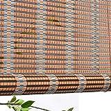 Estores enrollables Cortinas enrollables para Ventanas Exteriores, persianas con Cenefa para jardín, Patio, galería, balcón, 50 cm / 80 cm / 110 cm / 140 cm de Ancho