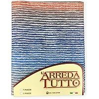tex family - Tela decorativa, funda cubretodo: Maxi foulard para cubrir la cama, los sofás; elaborado con tejido Rio Blu, de 2 plazas