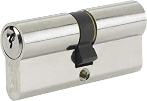 5 Pin Euro Cylinder Nickel Plated 90mm 40//50 Lock UPVC Door Asec Yale Style