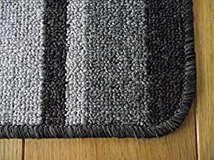 Black Grey Runner Rubber Non-slip Back Washable Rug Available in 3 sizes by Mexico