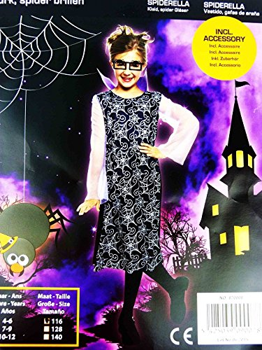 Halloween Jungenkostüm Mädchenkostüm Kostüm Verkleidung Karneval Fasching (Spiderella, 140)