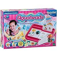 """Aquabeads 79318 - Set """"Arcobaleno"""" per lavoretti manuali per bambini, con perline colorate e piano di lavoro [Lingua tedesca]"""